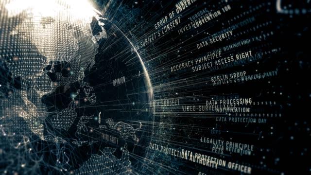 общие положения о регулировании защиты данных - шифрование стоковые видео и кадры b-roll