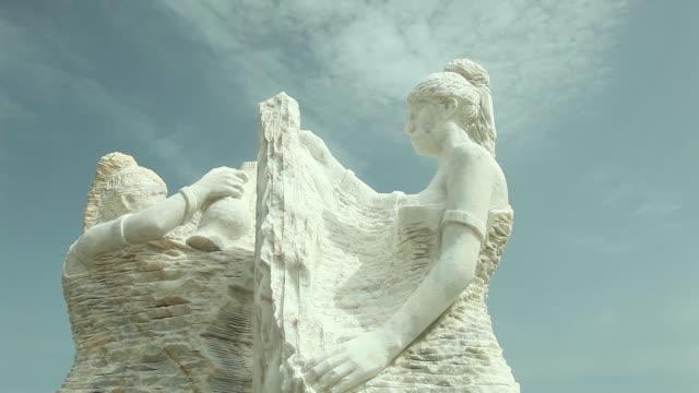 general vies från marmor skulpturer i datca/mugla-turkiet datca-mugla/kalkon 10/04/2018 - grekisk kultur bildbanksvideor och videomaterial från bakom kulisserna