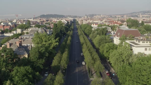 General view of Budapest, the Hungarian capital - drone 4K video Drone video shows downtown Budapest, the Matthias Church and Fishermen's Bastion, Buda Castle, St. Stephens Basilica or Cathedral, Castle hill, Parliament, City Park, Danube river, Chainbridge and city streets. hungary stock videos & royalty-free footage