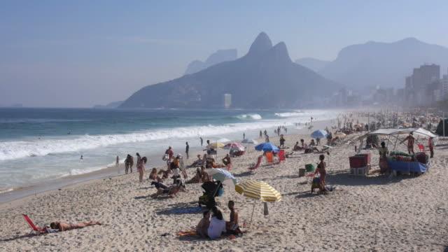 General View of Famous Ipanema Beach, Rio de Janeiro, Brazil video