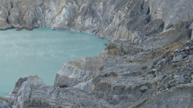 General view of sulfur mining operation and acid lake video