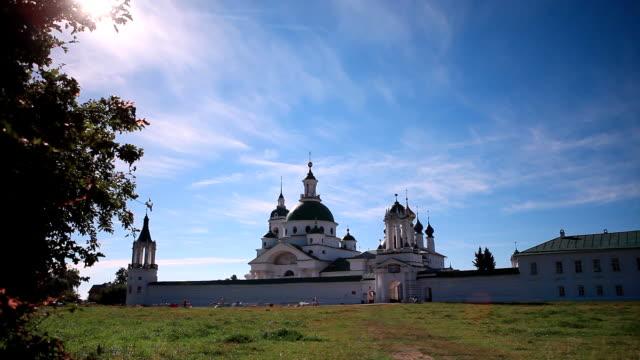 General view of the Spaso-Yakovlevsky Monastery / Russia. Rostov video