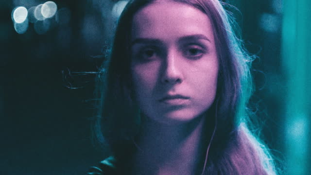 generation z person in neon lights - поколение z стоковые видео и кадры b-roll