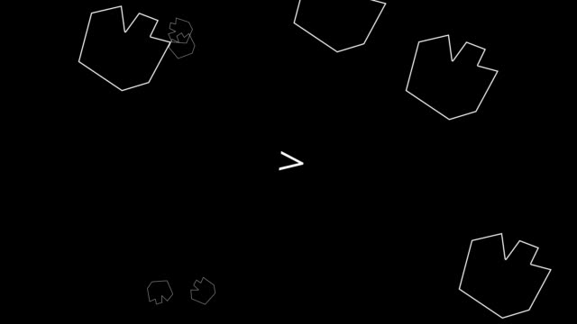 Generic Animation of old retro Asteroid Style Arcade Game - Game Over - Crash - V1 - vídeo