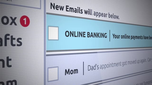 Generic Email New Inbox Message - Online banking confirmation payment - vídeo