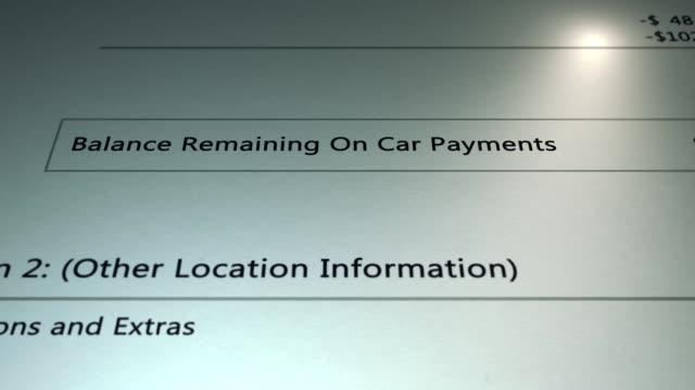 Generic Loan - Remaining Balance on Generic Car Payment - Zero Balance - Debt Concept