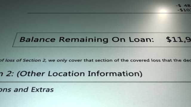 Generic Loan - Remaining Balance on Generic Loan - Money owed - Debt Concept - vídeo