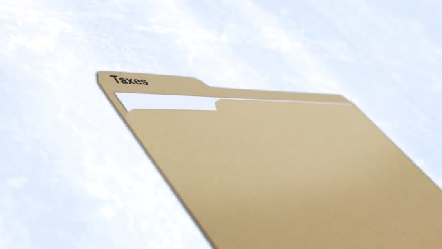 Generic Manila folder series - Taxes