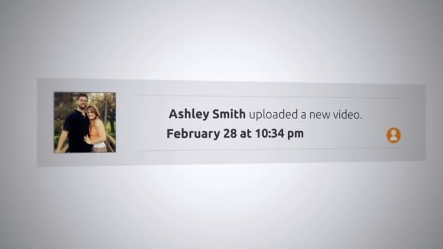 Generic Social Media Pop-Up Notification - Uploaded a new video alt video