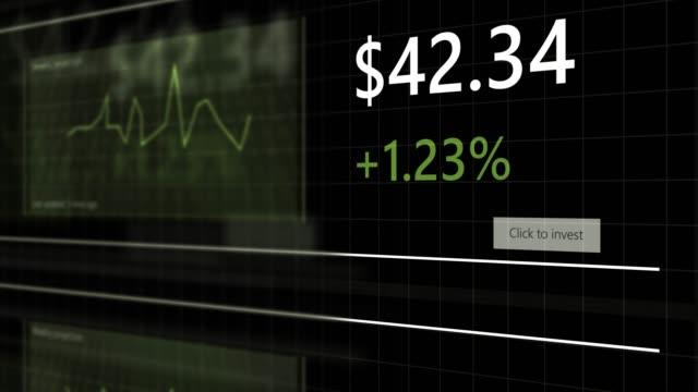 vidéos et rushes de site générique de négociation d'actions avec des projections et des graphiques boursiers défilants - v2 - book