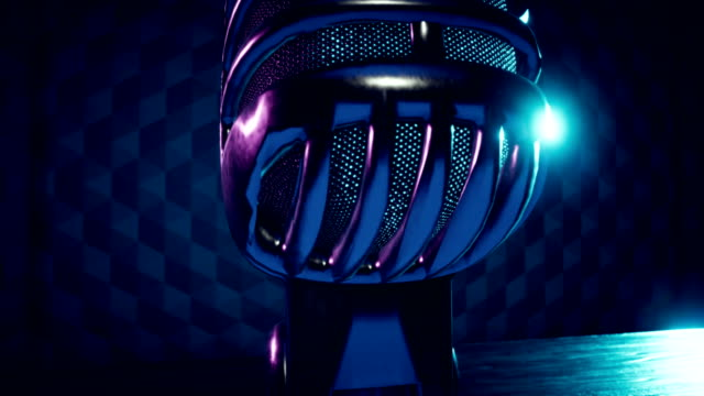 Generic Vintage Stylized Broadcast Microphone video
