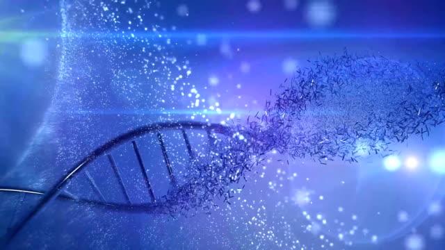 genetics research dna  medical background - mikrobiologia filmów i materiałów b-roll