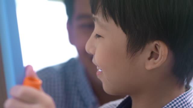Genius boy with creativity, learn math