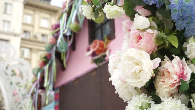 Gentle Easter breeze gently blows decorations video