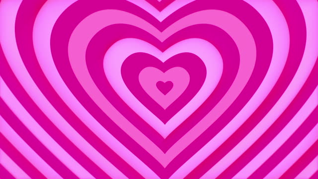 Gently pink heart shape is looped up. Love and Valentines Day concept. Seamless loop. video