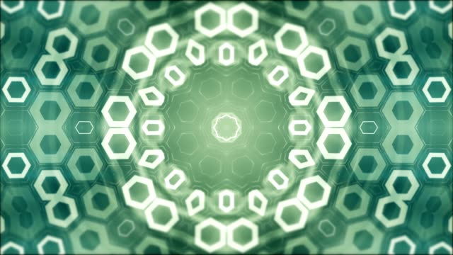 geometric abstract mandala in the background, looped green patterns - мандала стоковые видео и кадры b-roll