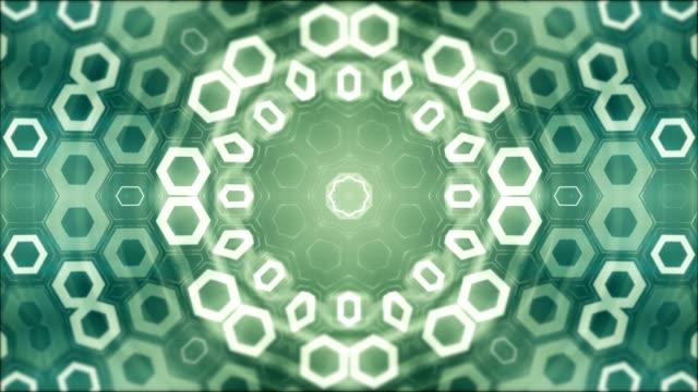 geometrisk abstrakta mandala i bakgrunden, loopas grönt mönster - mandala bildbanksvideor och videomaterial från bakom kulisserna