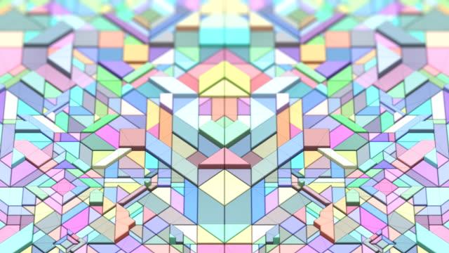 vídeos de stock, filmes e b-roll de vj corpos geométricos - padrão repetido