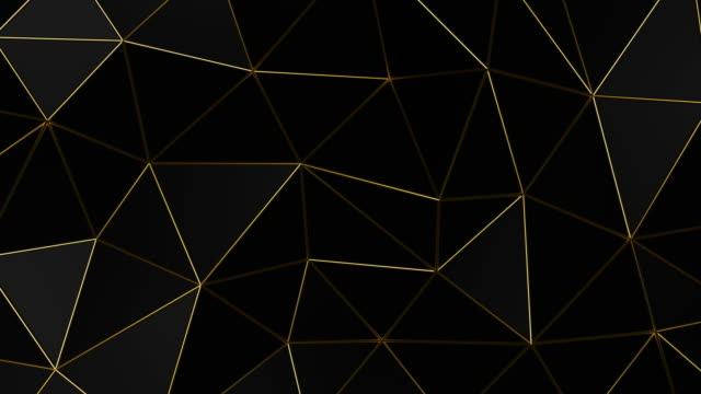 Geometric dark background with golden folds