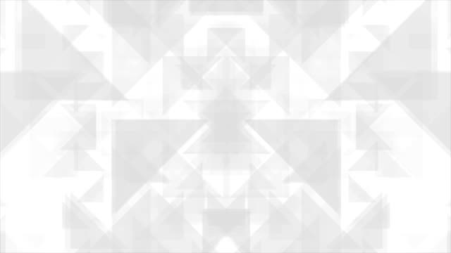 Geometric grey polygon shapes video animation video