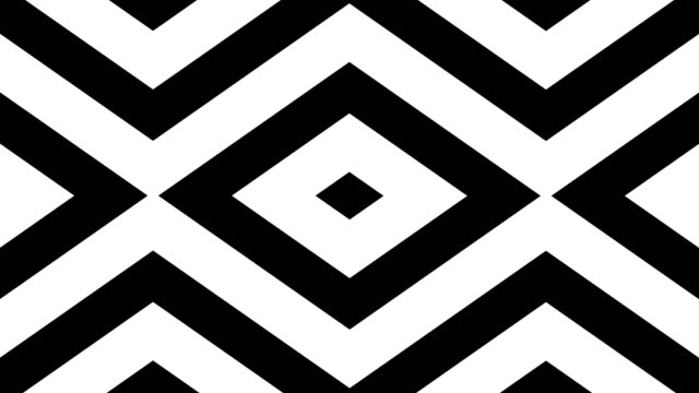 geometric loop abstract diamonds black and white video