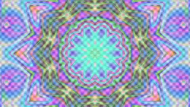 vídeos de stock, filmes e b-roll de ornamento geométrico, papel de parede ao vivo, linhas iridescentes caleidoscópicas, vigas de filme rápido - mandala