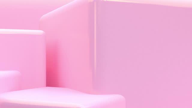 Geometric shape scene minimal style for background , 3d rendering.