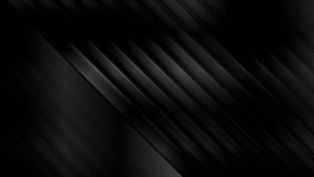 幾何学的な技術黒光沢ストライプ抽象的なビデオアニメーション - 斜めから見た図点の映像素材/bロール