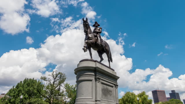 George Washington statue Boston video