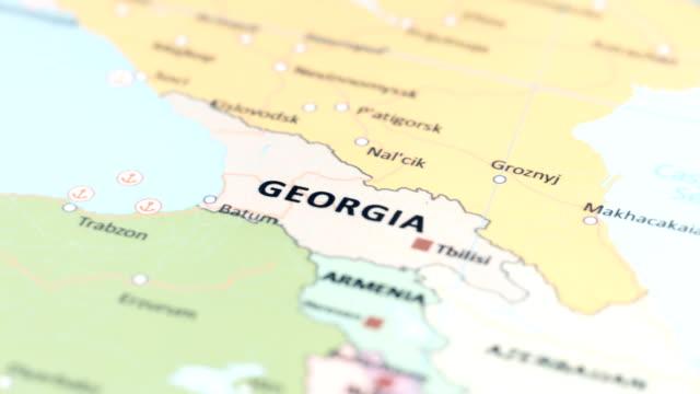 世界地図上のアジアのジョージア - アナトリア点の映像素材/bロール