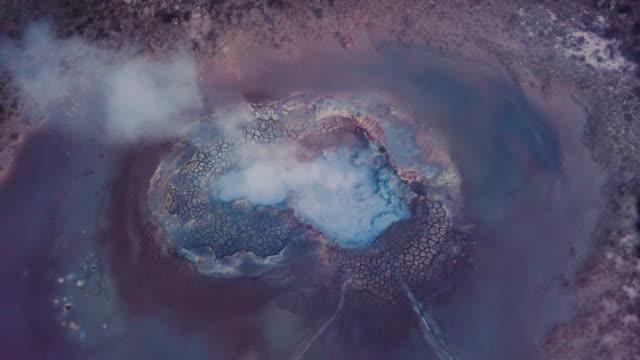geothermische aktivität auf island - vulkan stock-videos und b-roll-filmmaterial