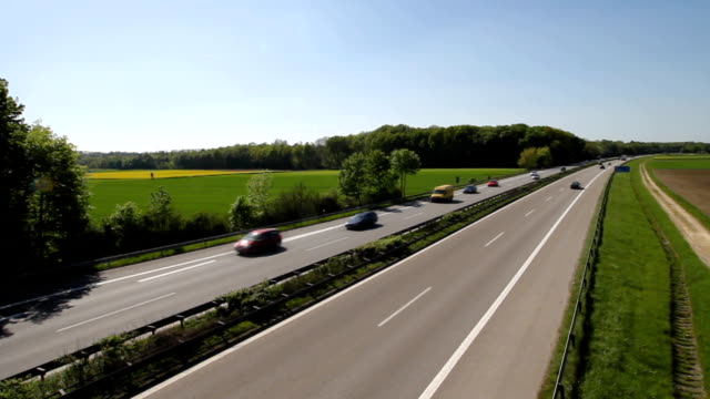 German Autobahn German Autobahn autobahn stock videos & royalty-free footage