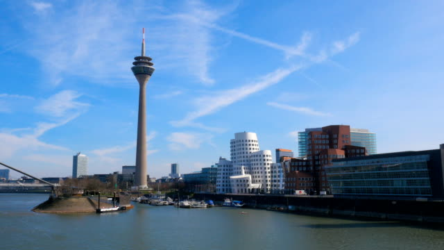 German city Dusseldorf, time lapse video