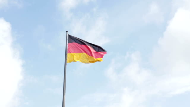 German flag fluttering in the wind video