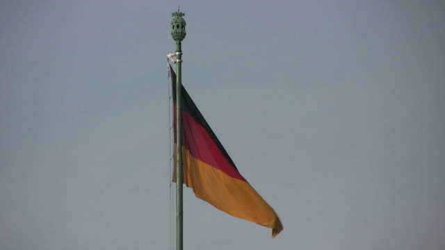 German flag fluttering (HD) video