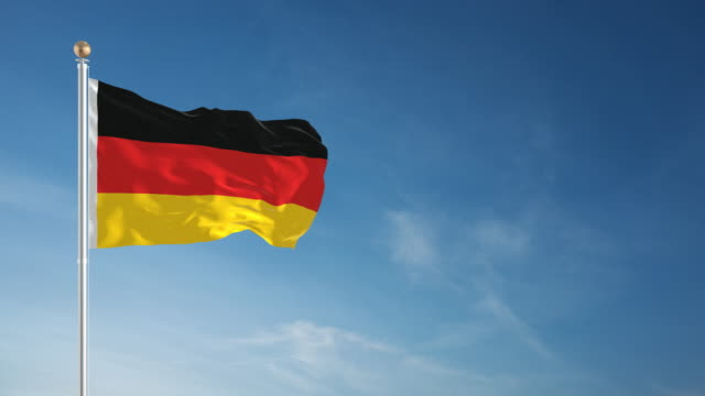4K German Flag - Loopable video