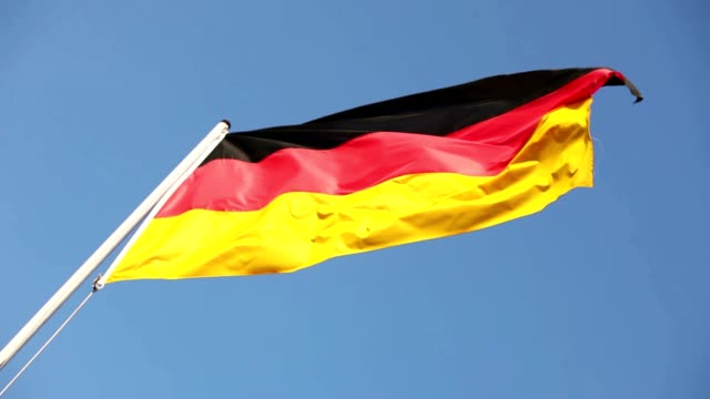 German Flag Waving In The Wind video