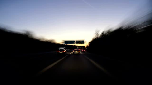 German highway - time lapse video