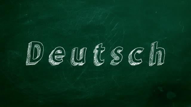 Conceito de aprendizagem de alemão - vídeo