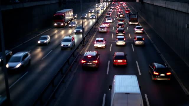 German Motorway - Traffic at night video