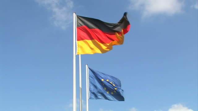 Germany and Europe - flags video