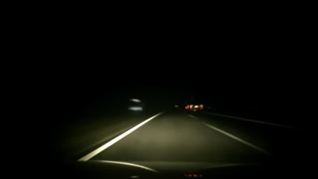 Germany Autobahn Night Driving video