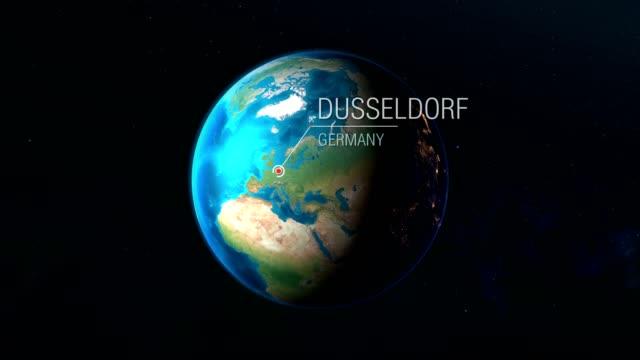 deutschland - düsseldorf - zoomen von raum zu stadt - düsseldorf stock-videos und b-roll-filmmaterial