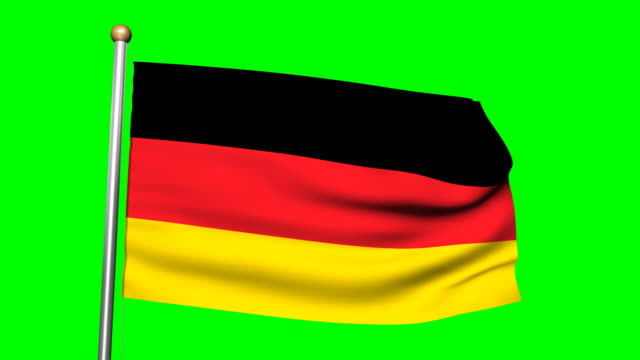 3D Germany flag animation on the green screen HD video