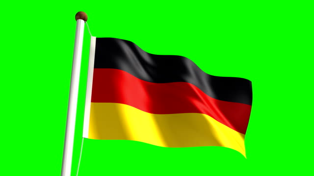 Germany flag (Loop & green screen) video
