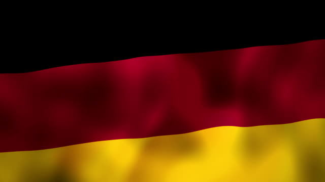 Germany flag waving in the wind video