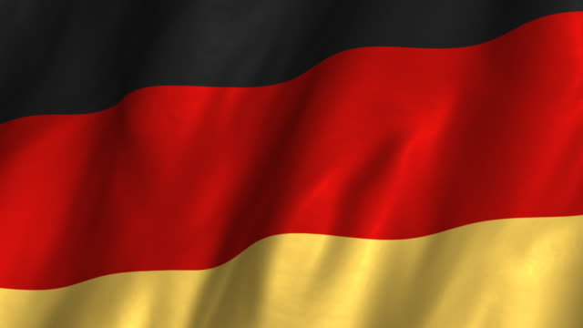 Germany Flag - waving, looping video