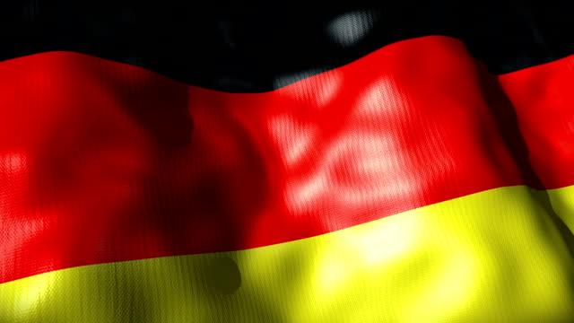 Germany Flag waving, looping video