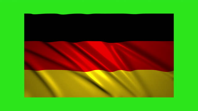 Germany flag waving,loopable on green screen video