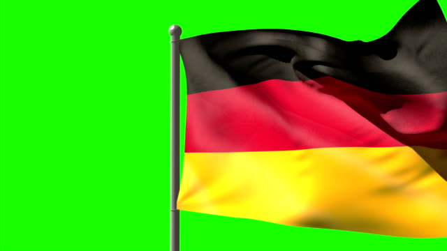Germany national flag waving on flagpole video